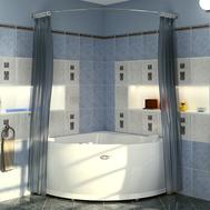 Фото 8177: Сантехника///Аксессуары для ванных///Карниз для ванн RADOMIR Карниз Chrome для шторки на ванну Альтея
