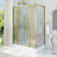 Фото 9736: Душевое ограждение FRA GRANDE Лоренцо Великолепный Gold New 140