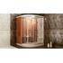 Фото 1805: Финская сауна в квартиру с душевой кабиной FRANK F915L 150х150