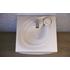 Фото 6354: Раковина над стиральной машинкой из литьевого мрамора RAVAL Perla 60х55 Белая