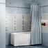 Фото 9293: Сантехника///Аксессуары для ванных///Карниз для ванн RADOMIR Карниз Chrome для шторки на ванну Мэги