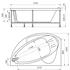 Фото 2270: Акриловая ванна с гидромассажем ВАРНА WHITE серия Standart