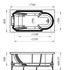 Фото 7596: Акриловая ванна без системы гидромассажа Радомир (Fra Grande) Анабель встраиваемая