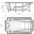 Фото 368: Акриловая ванна без системы гидромассажа Радомир (Fra Grande) Эстелона
