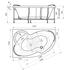 Фото 816: Акриловая ванна без системы гидромассажа Радомир (Vannesa) Ирма