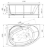 Фото 9088: Акриловая ванна без системы гидромассажа Радомир (Vannesa) Монти