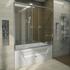 Фото 1049: Стеклянная шторка для ванн Радомир Ларедо с хромированным профилем