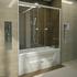 Фото 42: Стеклянная шторка для ванн Радомир Ларедо с хромированным профилем